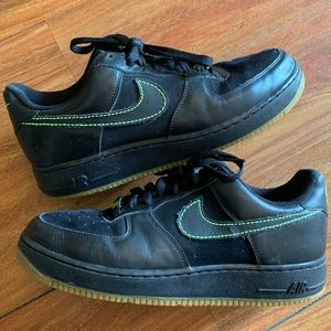 Black and Lime Nike AF1 9.5